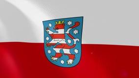 Ρεαλιστική ζωτικότητα σημαιών Thuringia ελεύθερη απεικόνιση δικαιώματος