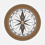 Ρεαλιστική πυξίδα φιαγμένη από ξύλο Στοκ εικόνες με δικαίωμα ελεύθερης χρήσης