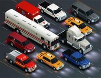 Ρεαλιστική σύνθεση κυκλοφορίας μεταφορών απεικόνιση αποθεμάτων