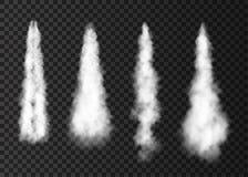 Ρεαλιστικός καπνός από τη διαστημική έναρξη πυραύλων απεικόνιση αποθεμάτων