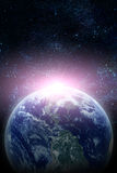 Ρεαλιστικός πλανήτης διανυσματική απεικόνιση