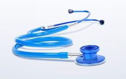 Ρεαλιστικό ιατρικό εργαλείο στηθοσκοπίων στο άσπρο υπόβαθρο Στοκ Φωτογραφία