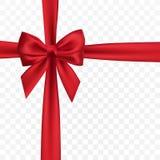 Ρεαλιστικό κόκκινο τόξο Στοιχείο για τα δώρα διακοσμήσεων, χαιρετισμοί, διακοπές επίσης corel σύρετε το διάνυσμα απεικόνισης διανυσματική απεικόνιση