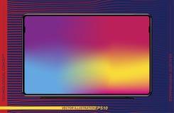 Ρεαλιστικό μαύρο όργανο ελέγχου TV προτύπων σε ένα υπόβαθρο χρώματος Επίπεδη απεικόνιση Eps 10 Στοκ φωτογραφίες με δικαίωμα ελεύθερης χρήσης