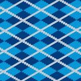 Ρεαλιστικό μπλε ύφασμα pattetn Στοκ Εικόνα