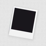 Ρεαλιστικό παλαιό πλαίσιο φωτογραφιών - που απομονώνεται στο διαφανές υπόβαθρο Στοκ εικόνες με δικαίωμα ελεύθερης χρήσης