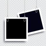Ρεαλιστικό πλαίσιο φωτογραφιών στοκ εικόνα