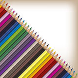 Ρεαλιστικά μολύβια χρώματος καθορισμένα Στοκ εικόνα με δικαίωμα ελεύθερης χρήσης
