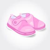 Ρεαλιστικά ρόδινα παπούτσια μωρών για ένα κορίτσι Στοκ εικόνες με δικαίωμα ελεύθερης χρήσης