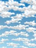Ρεαλιστική έκδοση δύο ουρανού σύννεφων Στοκ Εικόνες
