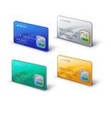 Ρεαλιστική απεικόνιση πιστωτικών καρτών Ελεύθερη απεικόνιση δικαιώματος