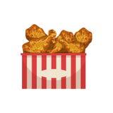 Ρεαλιστική λεπτομερής απεικόνιση στοιχείων επιλογών τροφίμων οδών ποδιών κοτόπουλου Στοκ εικόνες με δικαίωμα ελεύθερης χρήσης