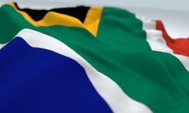 Ρεαλιστική κυματισμένη σημαία της Νότιας Αφρικής Στοκ εικόνα με δικαίωμα ελεύθερης χρήσης