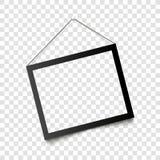 Ρεαλιστική μαύρη ένωση πλαισίων στον τοίχο επίσης corel σύρετε το διάνυσμα απεικόνισης Στοκ φωτογραφίες με δικαίωμα ελεύθερης χρήσης