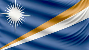 Ρεαλιστική όμορφη σημαία νησιών του Marshall 4k φιλμ μικρού μήκους