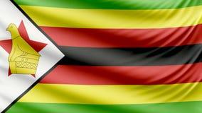 Ρεαλιστική όμορφη σημαία της Ζιμπάμπουε 4k απεικόνιση αποθεμάτων