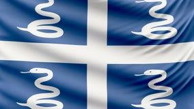 Ρεαλιστική όμορφη σημαία της Μαρτινίκα 4k φιλμ μικρού μήκους