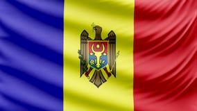 Ρεαλιστική όμορφη σημαία της Μολδαβίας 4k φιλμ μικρού μήκους