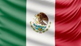 Ρεαλιστική όμορφη σημαία του Μεξικού 4k φιλμ μικρού μήκους