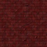 Ρεαλιστικός βαθύς - κόκκινος τραχύς τοίχος τούβλων Στοκ εικόνα με δικαίωμα ελεύθερης χρήσης