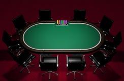 Ρεαλιστικός πίνακας πόκερ Στοκ Φωτογραφία