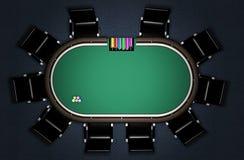Ρεαλιστικός πίνακας πόκερ Στοκ φωτογραφίες με δικαίωμα ελεύθερης χρήσης
