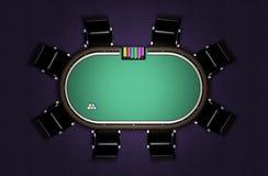 Ρεαλιστικός πίνακας πόκερ Στοκ Φωτογραφίες