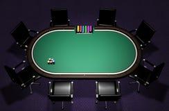 Ρεαλιστικός πίνακας πόκερ Στοκ εικόνες με δικαίωμα ελεύθερης χρήσης