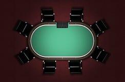 Ρεαλιστικός πίνακας πόκερ Στοκ φωτογραφία με δικαίωμα ελεύθερης χρήσης