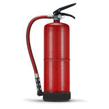 Ρεαλιστικός πυροσβεστήρας στο άσπρο υπόβαθρο Στοκ Εικόνες