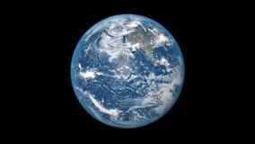 Ρεαλιστικός πλανήτης Γήινη περιστροφή Άνευ ραφής βρόχος απόθεμα βίντεο