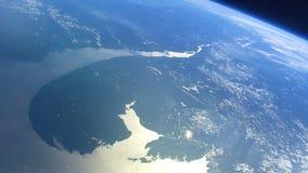 Ρεαλιστικός πλανήτης Γη από το διάστημα απόθεμα βίντεο