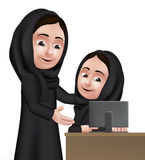 Ρεαλιστικός τρισδιάστατος αραβικός χαρακτήρας δασκάλων γυναικών Στοκ φωτογραφία με δικαίωμα ελεύθερης χρήσης