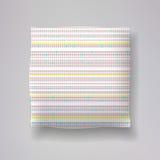 Ρεαλιστικός τρισδιάστατος ρίχνει τα πρότυπα μαξιλαριών με την εγγραφή της τυπωμένης ύλης Εσωτερικά στοιχεία σχεδίου διαμερισμάτων Στοκ Φωτογραφίες
