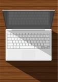 ρεαλιστικό λευκό lap-top Στοκ φωτογραφία με δικαίωμα ελεύθερης χρήσης