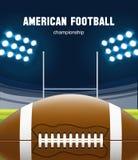 Ρεαλιστικό θέμα eps 10 αμερικανικού ποδοσφαίρου Στοκ φωτογραφίες με δικαίωμα ελεύθερης χρήσης