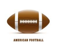 Ρεαλιστικό θέμα eps 10 αμερικανικού ποδοσφαίρου Στοκ Εικόνες
