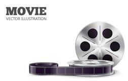 Ρεαλιστικό θέμα eps 10 κινηματογράφων που απομονώνεται στο λευκό Στοκ φωτογραφία με δικαίωμα ελεύθερης χρήσης