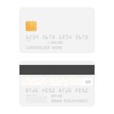 Ρεαλιστικό διανυσματικό πρότυπο πιστωτικών καρτών Στοκ φωτογραφία με δικαίωμα ελεύθερης χρήσης
