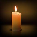 Ρεαλιστικό κερί Στοκ φωτογραφία με δικαίωμα ελεύθερης χρήσης