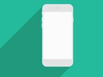 Ρεαλιστικό κινητό τηλέφωνο με την κενή οθόνη και τις μακριές σκιές Στοκ εικόνες με δικαίωμα ελεύθερης χρήσης