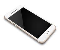 Ρεαλιστικό κινητό τηλέφωνο στο άσπρο υπόβαθρο Στοκ Εικόνες