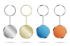 Ρεαλιστικό μέταλλο και πλαστικό Keychains Στοκ Εικόνες
