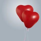 Ρεαλιστικό πέταγμα μπαλονιών γενεθλίων καρδιών κόμμα και εορτασμοί Διάστημα για το μήνυμα κινηματογράφηση σε πρώτο πλάνο Ι ελεύθερη απεικόνιση δικαιώματος