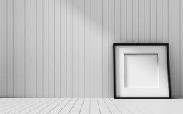 Ρεαλιστικό πλαίσιο εικόνων στο ξύλινο υπόβαθρο Στοκ φωτογραφία με δικαίωμα ελεύθερης χρήσης