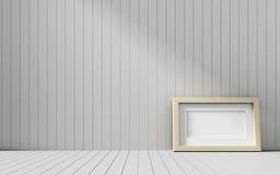 Ρεαλιστικό πλαίσιο εικόνων στο ξύλινο υπόβαθρο Στοκ Εικόνες