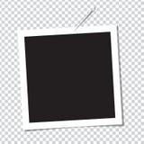 Ρεαλιστικό πλαίσιο φωτογραφιών στην καρφίτσα Στοκ εικόνες με δικαίωμα ελεύθερης χρήσης