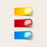 Ρεαλιστικό στοιχείο σχεδίου: εγκέφαλος -εγκέφαλος-usb, βούλωμα Στοκ φωτογραφία με δικαίωμα ελεύθερης χρήσης