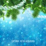 Ρεαλιστικό υπόβαθρο Χριστουγέννων Στοκ Εικόνα