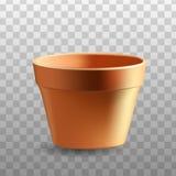 Ρεαλιστικό flowerpot Στοκ Φωτογραφίες